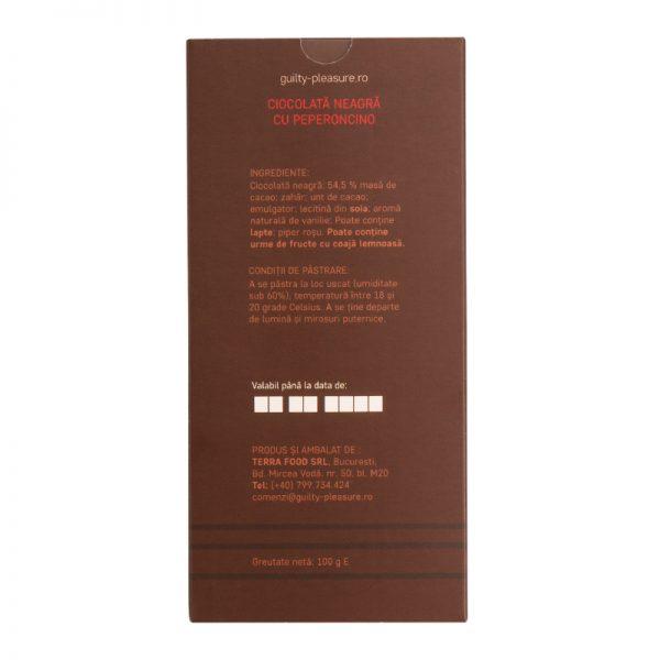 Tabletă Ciocolată Neagră cu Peperoncino